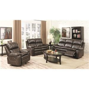 Faux Leather Recliner Sofa, Recliner Loveseat w/ Console and Recliner Set