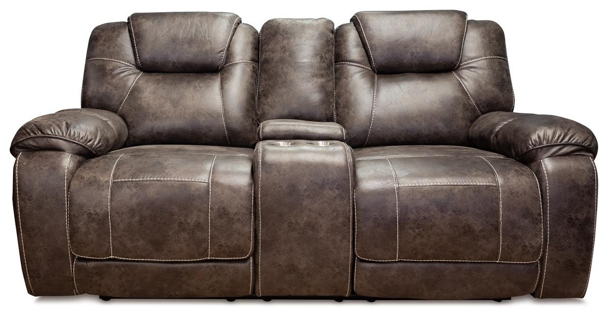 Strobe Dual Reclining Console Loveseat at Rotmans