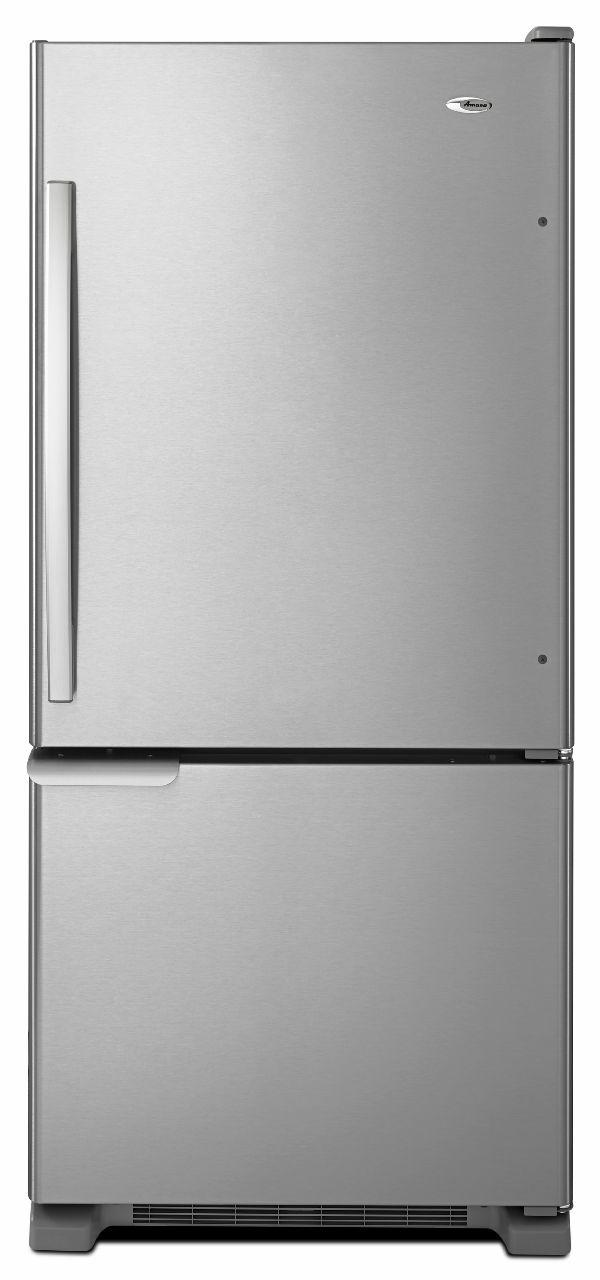 Bottom Mount Refrigerators 18.5 Cu. Ft. Bottom-Freezer Refrigerator by Amana at Wilcox Furniture
