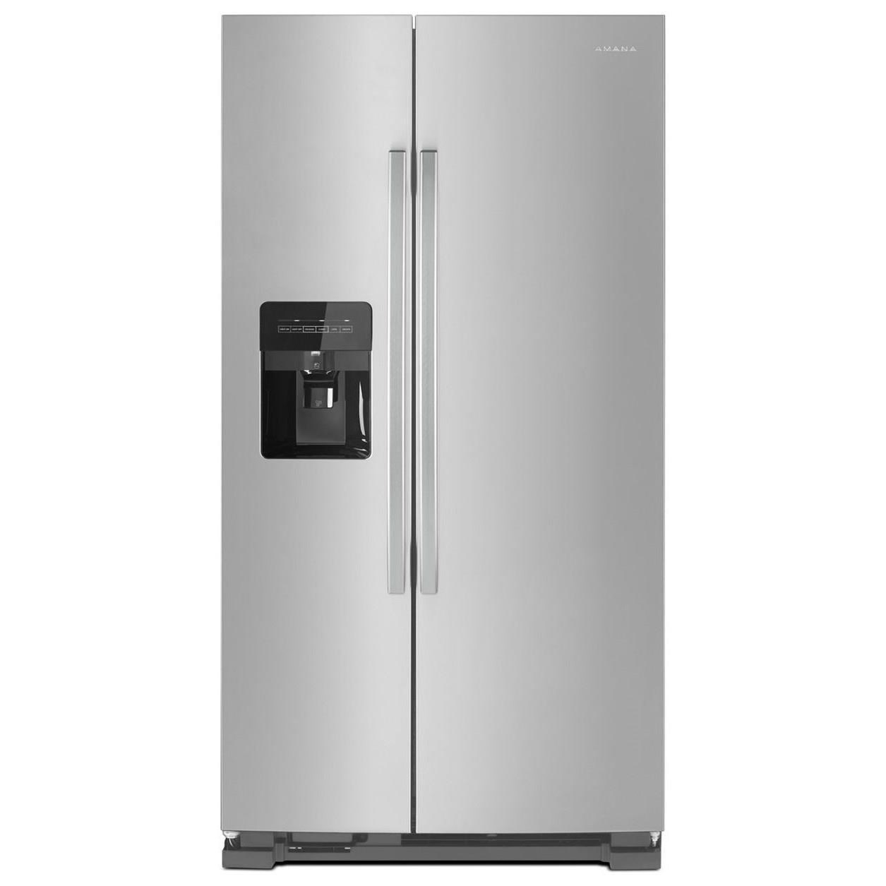 Side-By-Side Refrigerators 33-inch Side-by-Side Refrigerator with Dual  by Amana at Furniture and ApplianceMart