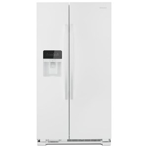 "36"" Side-by-Side Refrigerator with Dual Pad External Ice and Water Dispenser"