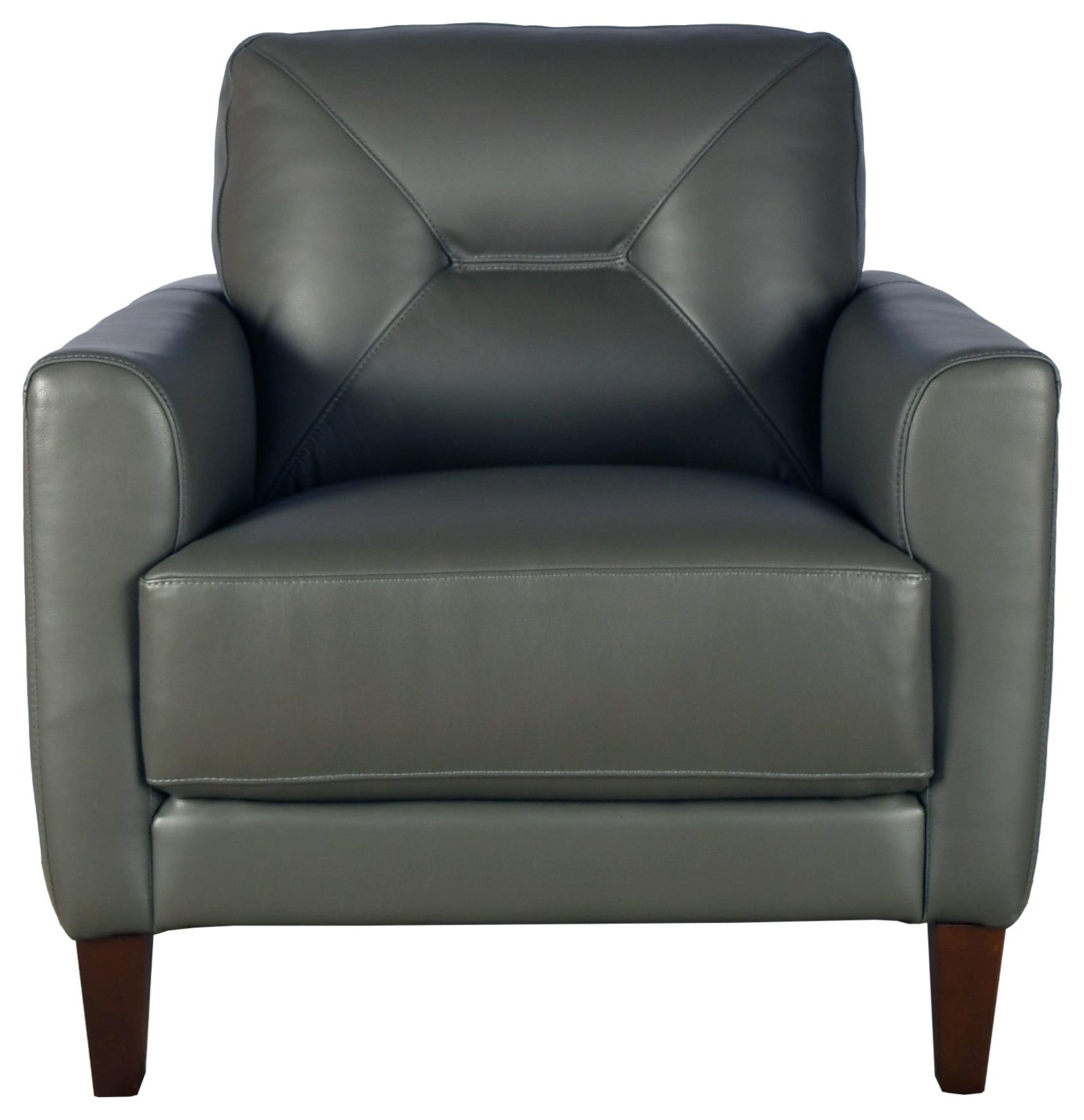 Clooney Leather Chair at Bennett's Furniture and Mattresses