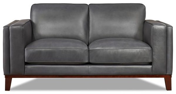 Avon Leather Loveseat by Amax at Upper Room Home Furnishings