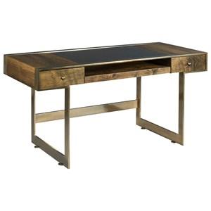 Risden Desk with Bronze Glass Top Insert