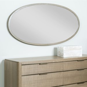 Ramsey Oval Mirror with Wood Frame