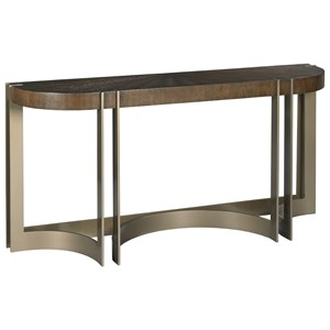 Rome Console Table with Metal Base