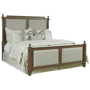 Upholstered King Bed with Posts
