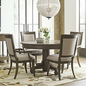 Five Piece Dining Set with Buxton Round Table