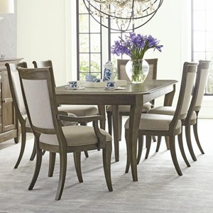 Seven Piece Dining Set with Swansen Table