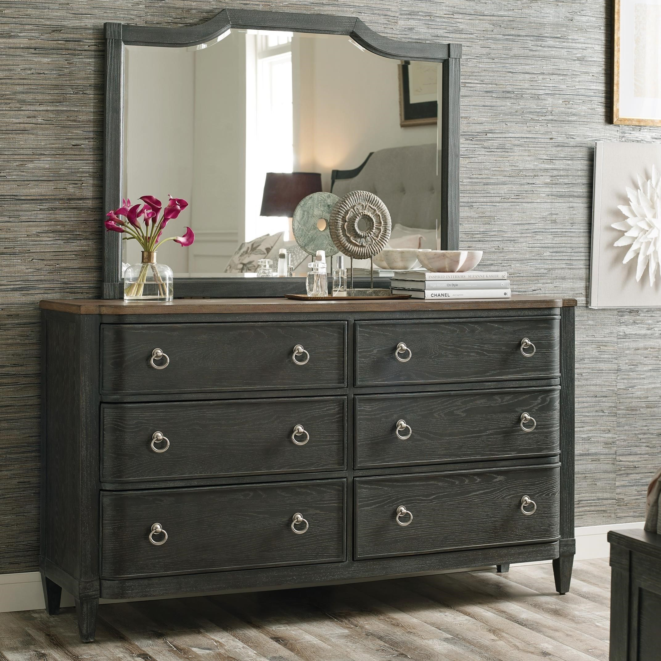 Ardennes Dresser and Mirror Set by American Drew at Alison Craig Home Furnishings