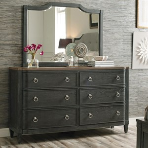 Dresser and Mirror Set with Removable Jewelry Tray