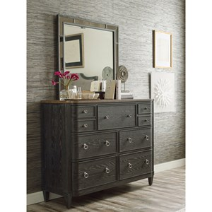 7-Drawer Dresser and Mirror Set with Removable Jewelry Tray