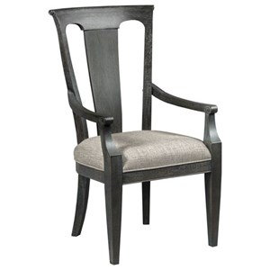 Roland Arm Chair with Upholstered Seat