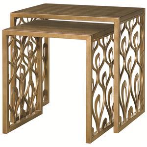 American Drew Bob Mackie Home 2 Nesting Tables