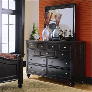 American Drew Camden - Dark Chest and Mirror