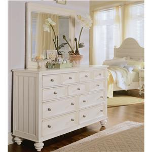 American Drew Camden - Light Chest and Mirror