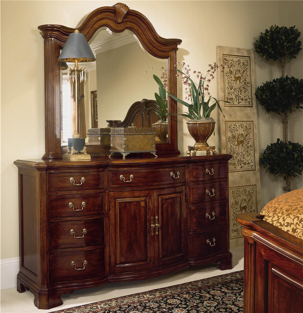 Cherry Grove 45th Triple Dresser and Landscape Mirror by American Drew at Northeast Factory Direct