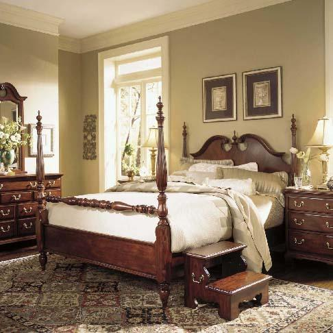 Cherry Grove 45th Queen Low Poster Bed by American Drew at Stoney Creek Furniture