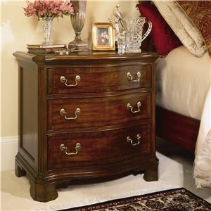 Traditional 3 Drawer Night Stand