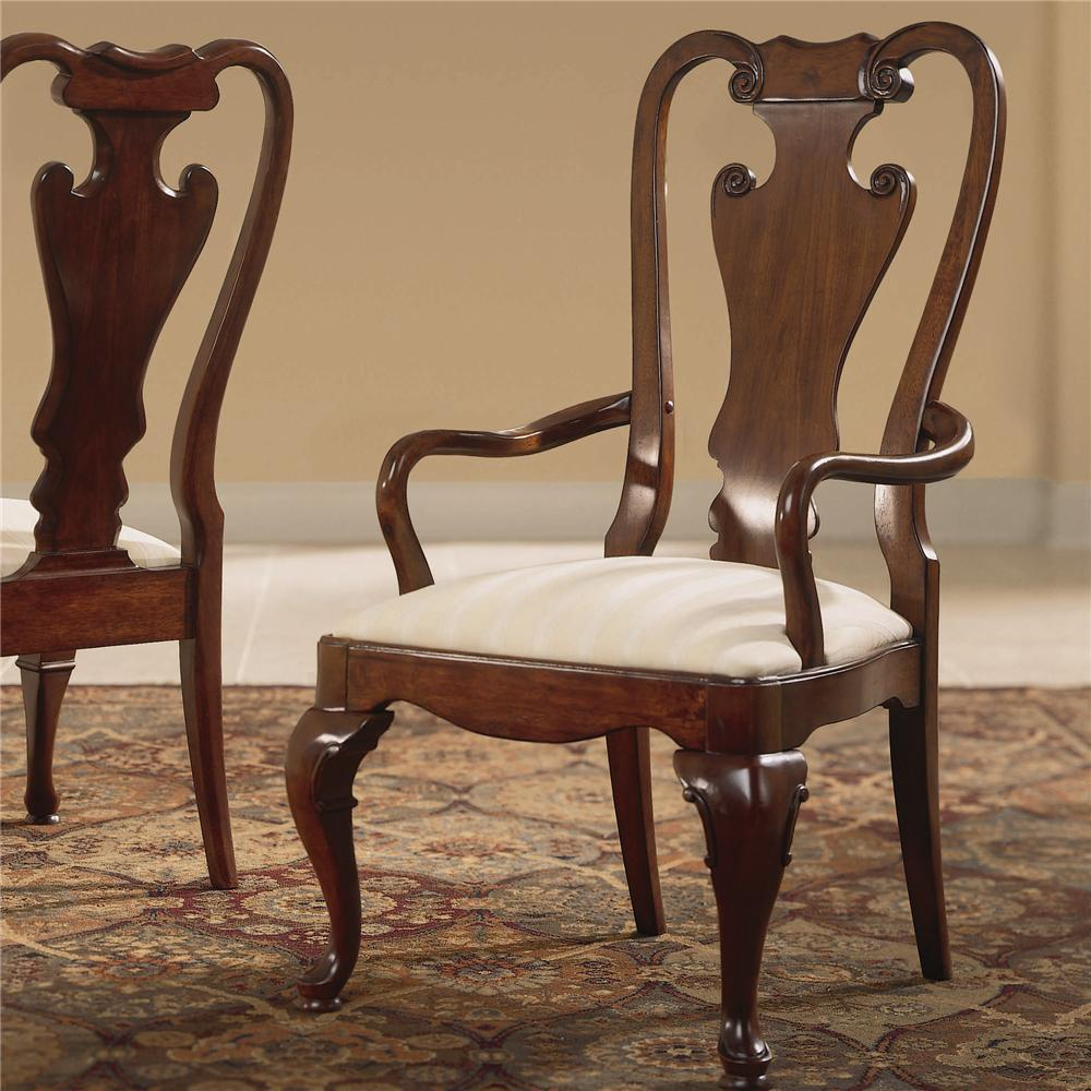 Cherry Grove 45th Splat Back Arm Chair by American Drew at Northeast Factory Direct