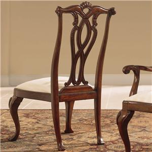Dining Side Chair with Pierced Back