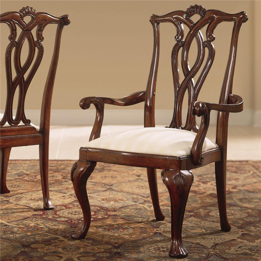 Cherry Grove 45th Pierced Back Arm Chair by American Drew at Northeast Factory Direct