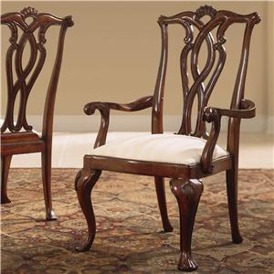 American Drew Cherry Grove 45th Pierced Back Arm Chair