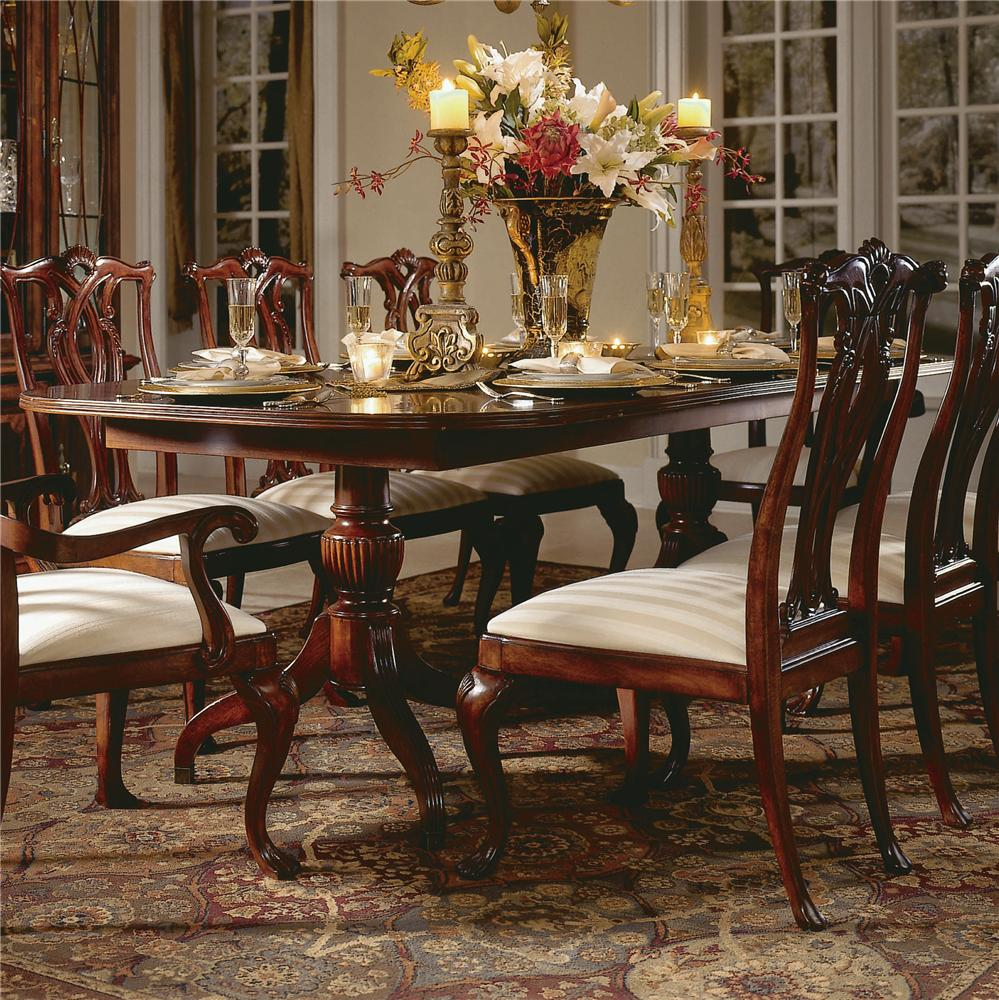 Cherry Grove 45th Pedestal Table by American Drew at Northeast Factory Direct
