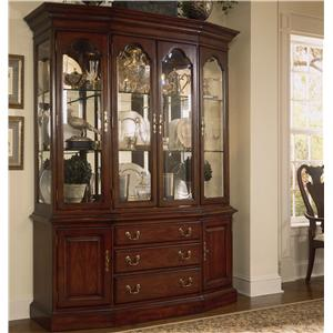 Canted Glass Door China Cabinet