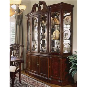 China Cabinet with Breakfront Doors
