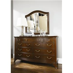 American Drew Cherry Grove Triple Dresser with Mirror