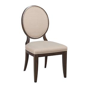 Upholstered Side Chair with Decorative Back