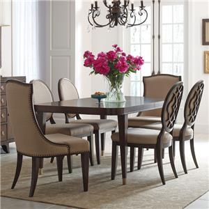 "7 Piece Table and Chair Set with 2 20"" Leaves"