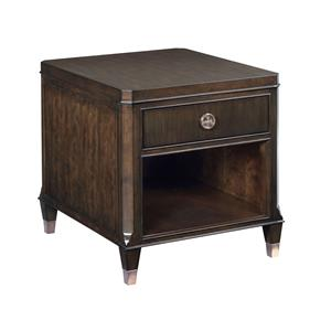 1 Drawer End Table with Open Storage Area