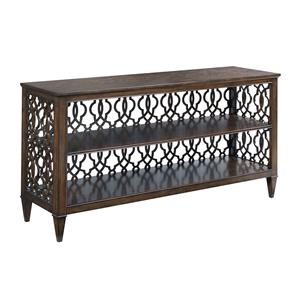 Rectangular Hall Console with Decorative Back Panel