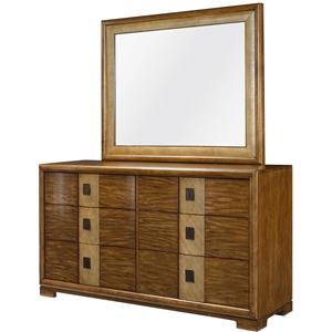 American Drew Grove Point Dresser with Mirror