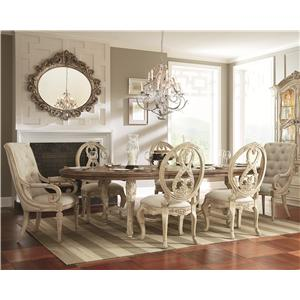 American Drew Jessica McClintock Home - The Boutique Collection 7 Piece Dining Table Set