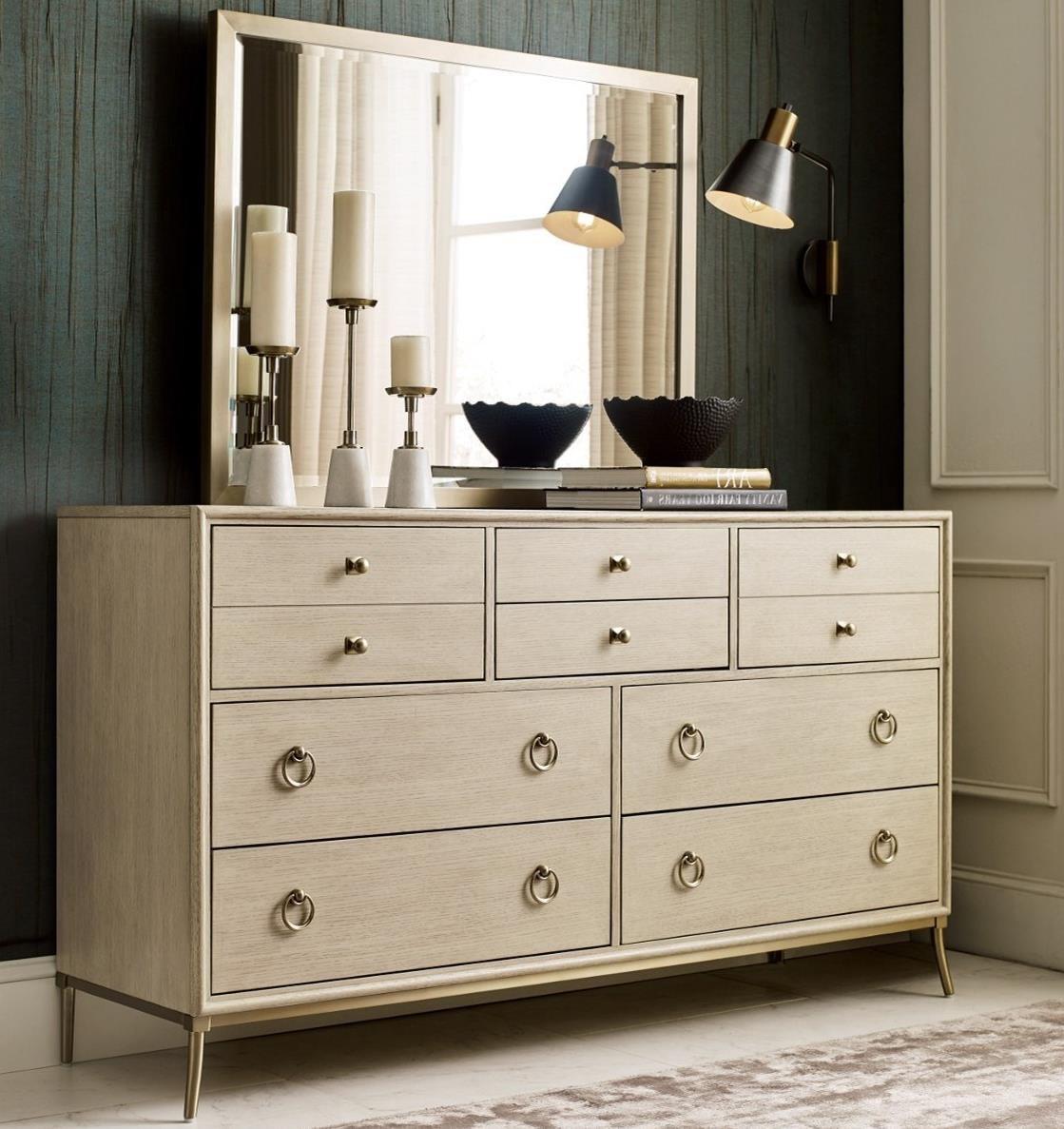 Lenox Dresser + Mirror Set by American Drew at Johnny Janosik