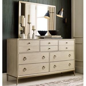 Straddella 8-Drawer Dresser and Mirror Set
