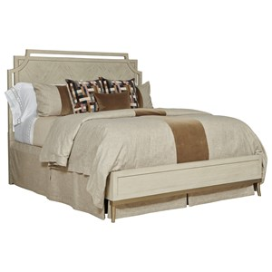 Royce King Panel Bed with Metal Legs