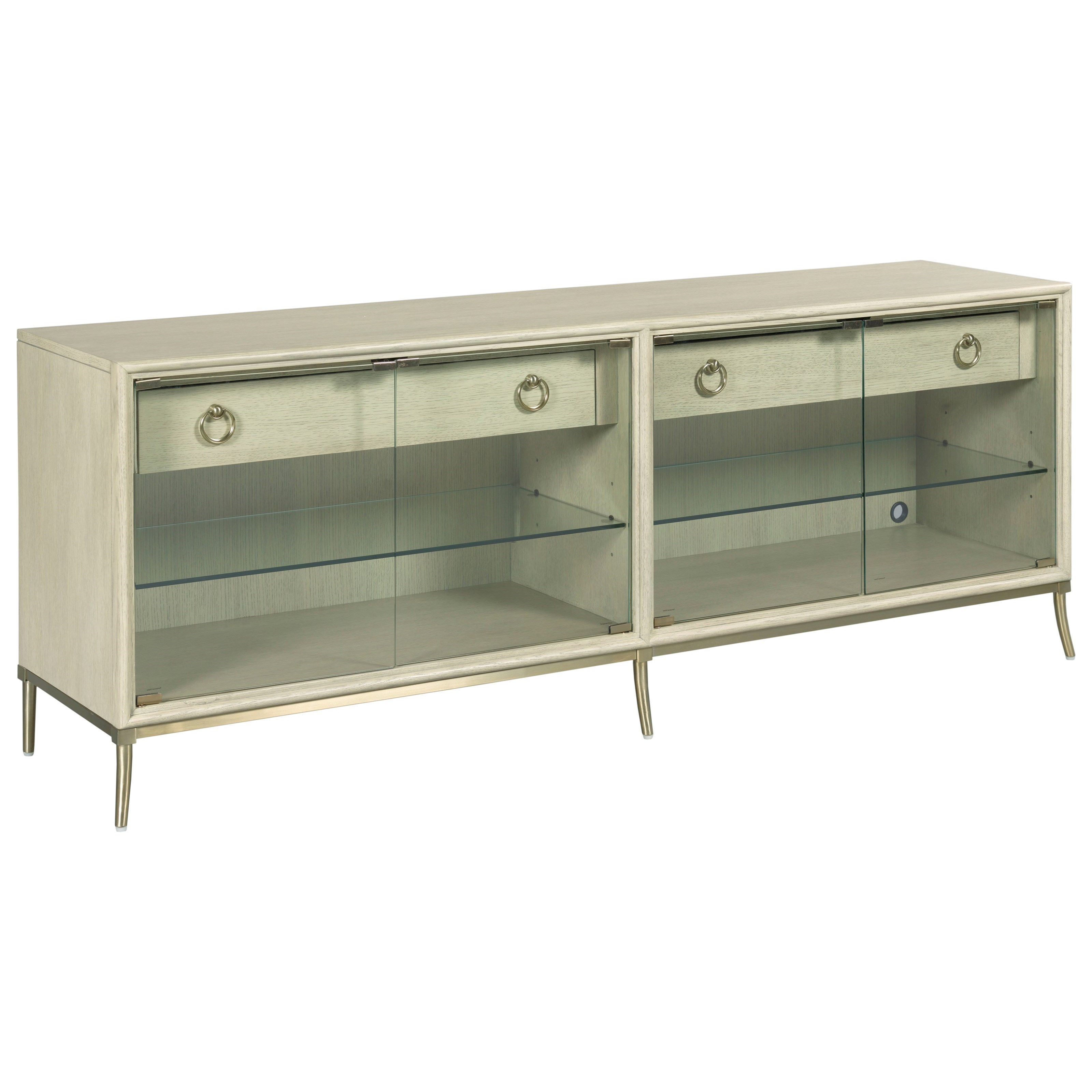 Lenox Entertainment Console by American Drew at Alison Craig Home Furnishings