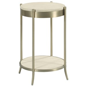 Round Martini Table with Metal Legs