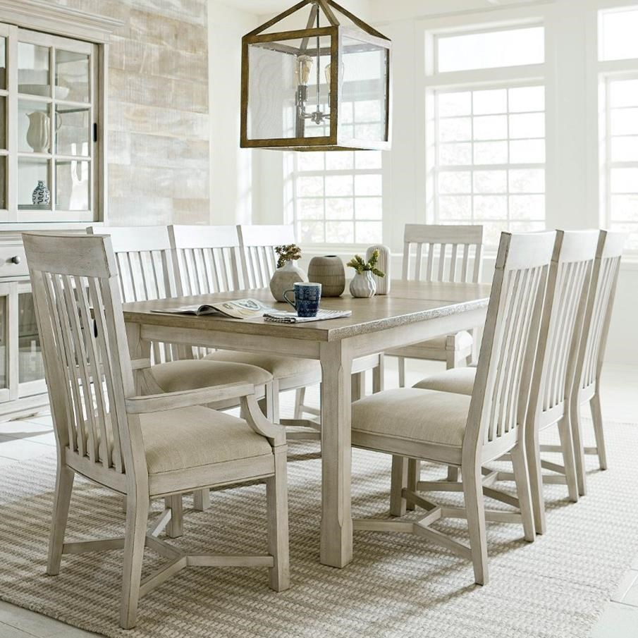 Litchfield Table and Four Side Chairs by American Drew at Johnny Janosik