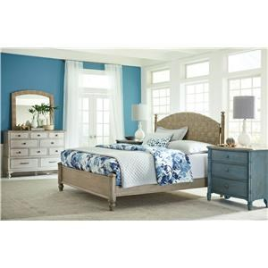 Queen Bed Set, Nightstand, Dreser and Mirror
