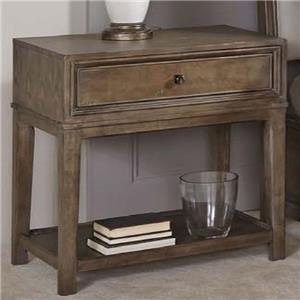 Contemporary Night Stand with 1 Drawer and 1 Lower Shelf