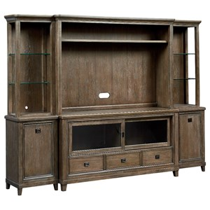 Wall Entertainment Unit with Cord Access