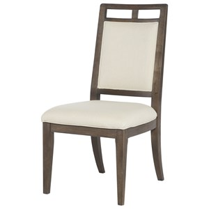 Contemporary Wood Back Side Chair