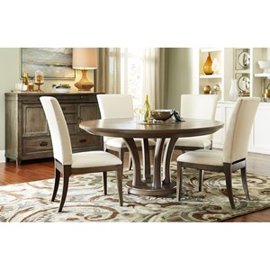 "Modern 5 Piece 60"" Dining Room Table Set"