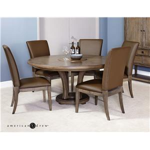 "Contemporary 7 Piece Dining Set with Side Chairs and 60"" Dining Table"