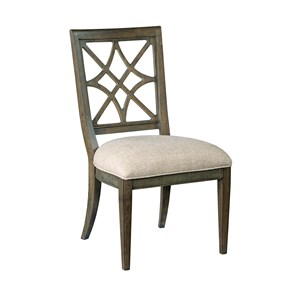 Genieve Side Chair with Upholstered Seat